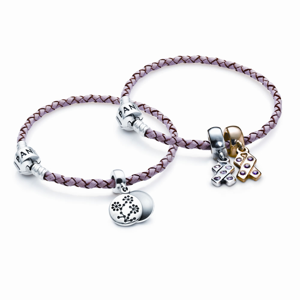 Pandora Breast Cancer Bracelet Pink Leather