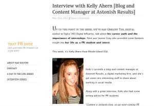 Interview via That PR Dude